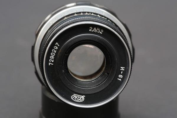 52 mm Objektiv, f:2,8 made in USSR