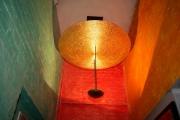 Leuchter, Stahl mit Schlagmetall vergoldet