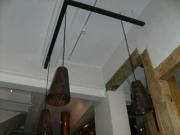 Pendel Leuchten aus Kupfer mit Kornähren als Kupferabschlag für das Brauhaus in Goslar