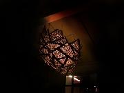 Leuchte aus Kupfer, (amorphe Form)