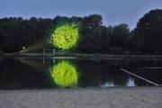 großes Baumkino am Jo-Beach auf der Jo-Wiese in Hildesheim