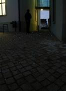 Lichtleitfasern in einer gepflasterten Fläche in der Hochzeitsgasse am Marktkirchenplatz in Haldensleben