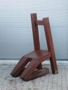 "Skulptur ""Living Chair"" aus rostigem Stahl"