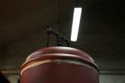 29.01.10 Der Kessel wird auf das Fahrwerk gesetzt...nun sieht sie fast komplett aus
