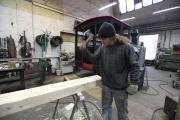 05.02.10 Arbeiten am Heckschweller der Lokomotive