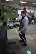 01.02.2010 Die Scheiben sind eingesetzt und die Versteifungsstreben für den Vorbau sind montiert