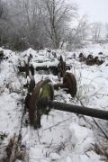 22.01.2010 heute haben wir die Räder für die Lok aus dem Schnee geschaufelt