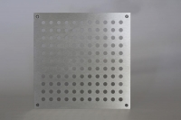 Quadratisches Lüftungsblech aus Edelstahl