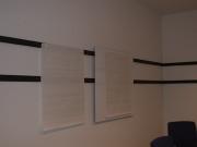 Magnetpinnwand aus Flacheisen mit einer Whiteboard Tafel