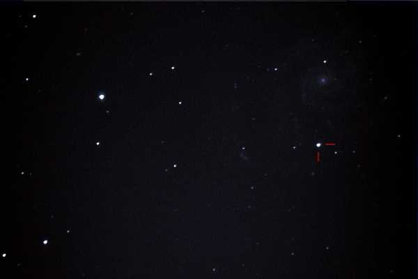 Supernova in M 101 im September 2011