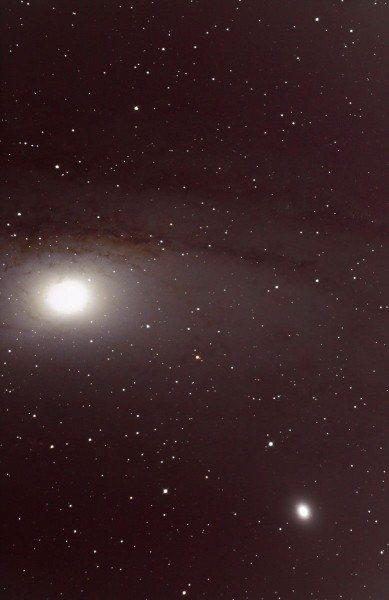 Blick ins Zentrum der Andromeda Galaxie M31 am 26.09.2013