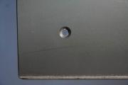 Magnetpinwand aus Zunderstahl mit Klarlack lackiert