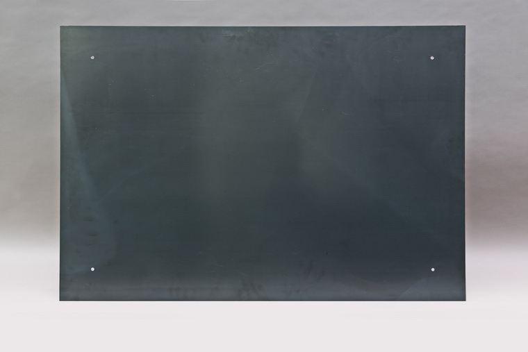 magnet pinnwand aus zunder stahl sichtbar geschraubt. Black Bedroom Furniture Sets. Home Design Ideas