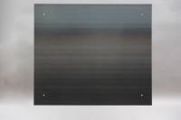 Magnetpinnwand aus Zunderstahl mit Klarlack lackiert