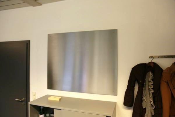 Große Magnetpinnwand aus magnetischem Edelstahl