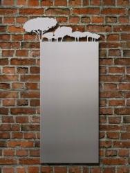Magnetpinnwand aus Stahl oder Edelstahl mit Baumkonturen an der oberen Seite