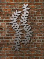 2 teilige Magnetpinnwand aus Stahl oder Edelstahl mit einer Rankpflanze