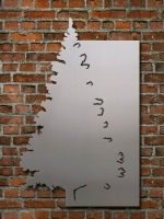 Magnetpinnwand aus Stahl oder Edelstahl mit seitlichem Tannenbaum