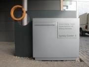 riesige Briefkastenanlage für die Eduard  Mathai GmbH