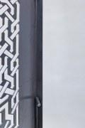 Gelasertes Blech aus Stahl als Sichtschutz