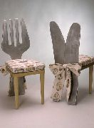 Messer- und Gabelstuhl Küchenstühle aus Aluminium gegossen