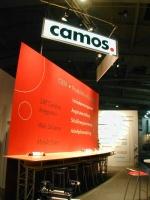 Messestand für Camos auf der CeBit 2005