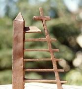 Metallsubjekt aus rostigem Stahl