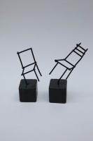 Miniaturstühle aus 2 mm Rundstahl