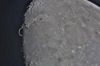 """Der Mond am 20.4.2013 mit dem """"goldenen Henkel"""""""