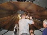 Montage der Grammophon Decke