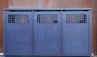 Müllbox aus lackiertem, feuerverzinktem Stahl