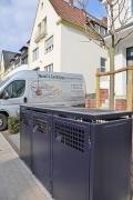 Elegante, luftige Müllbox für 3 Mülltonnen