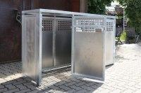 Müllbox aus feuerverzinktem Stahl mit Alumium Füllungen