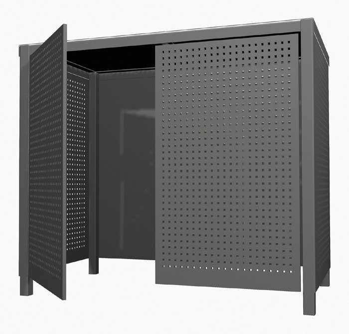 entwurf f r einen sichtschutz f r m llcontainer und. Black Bedroom Furniture Sets. Home Design Ideas