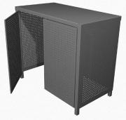 Entwurf für einen Sichtschutz für Müllcontainer und Mültonnen