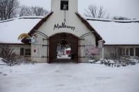 Tor zum Mullewapp im Winter-Zoo