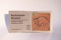Schild für den Nacktnasen Wombat Im Zoo Hannover