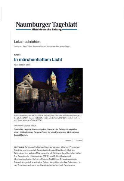 Naumburger Tagesblatt vom 12.06.2015