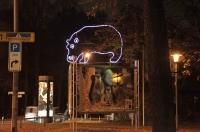 Leucht Nilpferd für den Zoo Hannover