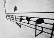Dekoratives Notenrelief aus 3mm Stahlblech gelasert