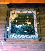 Fenstergitter, Stahl geschmiedet