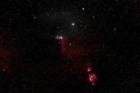 Die Orion Region mit 180 mm Brennweite aufgenommen