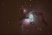 Orionnebel bei einer Wolkenlücke am 19.2.12