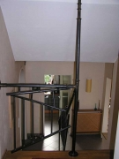 Treppengeländer aus Rohr geschweißt