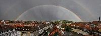 Regenbogen und Nebenregenbogen in Hildesheim