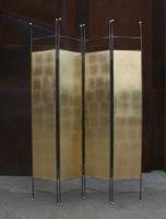 Paravent mit Schlagmetall vergoldet