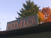 """Schild  """"pedalo """""""