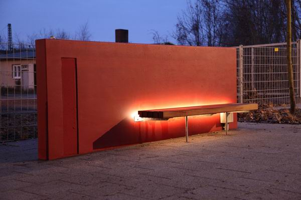 Beleuchtungsplanung für eine Sitzbank in Peine