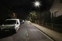 Leuchtenvergleich in Peine Burgkamp. Vorher...Nachher