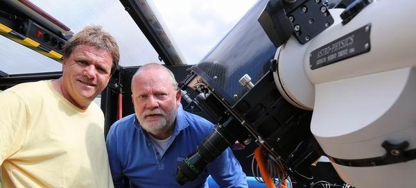 Hermann Pelkhofer zu Besuch in unserer Sternwarte